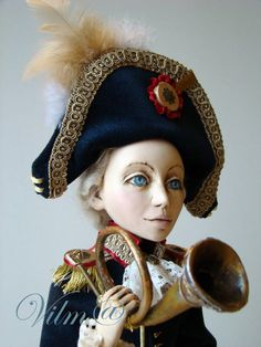 OOAK Art Doll The Little Corporal by VilmaDolls on Etsy, $300.00