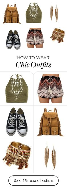 """hippie chic"" by filocamille on Polyvore featuring New Look, Converse, Roberto Cavalli and Yves Saint Laurent"