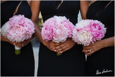 Pink Peony bridesmaid bouquets