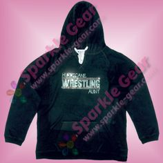 Wrestling Custom Text in Crystal and Light Siam Rhinestones.