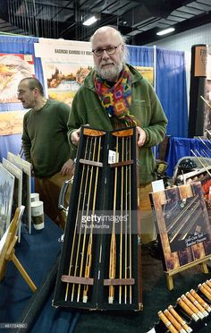Hand-made split-bamboo fly rod maker Rolf Baginski at the 2015 Marlborough Fly Fishing Show