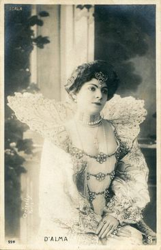Vintage French RPPC Postcard Actress Miss D' Alma Oricelly