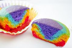 Rainbow cup cakes a colorful birthday in may