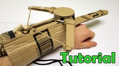 In this video I will teach you how to make a Phantom blade (Hidden blade / Mini crossbow) using cardboard, 5 rubber bands, same pop sticks, string and glue.....