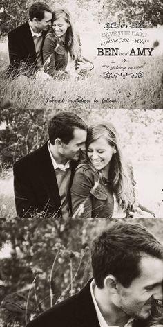 Photo Save the Date card, Black and white photo shoots #2014 Valentines day wedding #Summer wedding ideas www.dreamyweddingideas.com