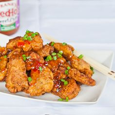 Thai Chicken Bites - bite size pieces of fried chicken drizzled with sweet red chili sauce, they'll be gone before you can say yum! Sweet Chili, Red Chili, Thai Chicken, Fried Chicken, Asian Recipes, Ethnic Recipes, Yummy Recipes, Chicken Bites, Appetizer Recipes