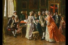 The concert - Federico Andreotti - Toile Artwork Victorian Paintings, Victorian Art, Baroque Painting, Shady Lady, Oil Canvas, Canvas Art, Antique Paint, Classical Art, Italian Artist