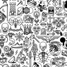 Thinking about getting a flash tattoo? You'll have to decide whether to get a custom or flash tattoo. What is a flash tattoo? Kritzelei Tattoo, 13 Tattoos, Doodle Tattoo, Bild Tattoos, Poke Tattoo, Body Art Tattoos, Tattoos For Guys, Cool Tattoos, Tattos