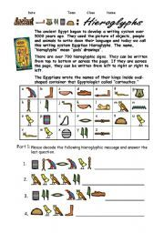 English Worksheet Egypt Hieroglyphs Egypt Hieroglyphics Lessons For Kids English Lessons For Kids