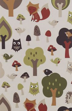 A web site with very cute owl print products