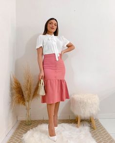 Cute Modest Outfits, Cute Skirt Outfits, Cute Skirts, Teen Fashion Outfits, Cute Fashion, Modest Fashion, Beautiful Outfits, Street Style, Clothes For Women