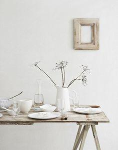 Louise Rastall {Interior Stylist} - Home Natural Interior, Home Interior, Modern Interior, Rustic Table, Rustic Decor, Rustic Charm, Wood Table, Rustic Wood, Photo Deco