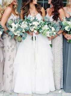 Photography: Lauren Peele - www.laurenpeelephotography.com Wedding Dress: Hayley Paige  - www.jlmcouture.com/Hayley-Paige Bridesmaids' Dresses: Stardust Celebrations - stardustcelebrations.com   Read More on SMP: http://stylemepretty.com/vault/gallery/35844