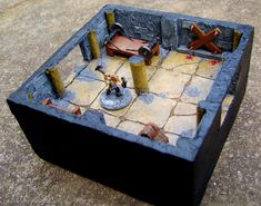 Torture Chamber in 15mm - A bit crude for my own taste, but quite interesting as example of DIY dungeon for Warhammer Quest. More entries about this on that blog.