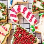 Rolled Sugar Cookie! These rolled sugar cookies have a perfectly light & airy texture with a delicate buttery taste. They're the best sugar cookie for decorating! | HomemadeHooplah.com