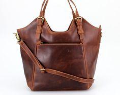 Cuero bolso bolso de hombro bolso en marrón por TheLeatherStore