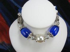 BraceletBlue Cats Eye Bracelet Wedding by NaturesJewelsByVina, $20.00