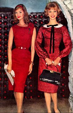Red 1950's Fashion. ♥  the one on the left is my fave!