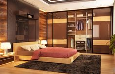 Discover manly interior designs with the top 80 best bachelor pad men's bedroom ideas. Men's Bedroom Design, Wardrobe Interior Design, Door Design Interior, Home Decor Bedroom, Bedroom Ideas, Closet Bedroom, Bedroom Storage, Foyers, Home Design
