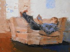 """""""Working,"""" original figurative painting by artist  Fred Bell (United States) available at Saatchi Art #SaatchiArt"""