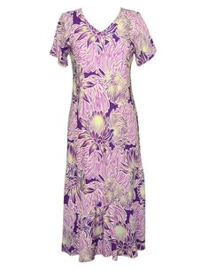 6bf78189bc Check out the deal on Silversword Tea Length Cap Sleeves Tropical Dress at…
