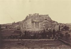 Temple of Olympian Zeus, with the Acropolis of Athens in the background. Photo by James Robertson, Athens Acropolis, Athens Greece, Classical Greece, Temple, Olympians, Archaeology, Old Photos, Monument Valley, The Past