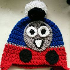 Thomas the train Thomas The Train, Crochet Hats, Beanie, Knitting, Projects, Log Projects, Tricot, Breien, Thomas And Friends
