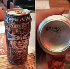 "In today's prank news: An employee of Sun King Brewing stamped ""TOM BRADY SUX"" under 20,000 of the company's cans"