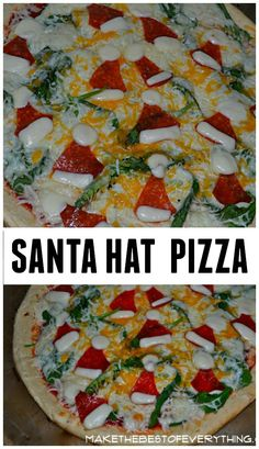 Santa Hat Pizza {TheHousewifeModern added to original pin: no pizza recipe, just concept. Cute but cheesy, pun intended}