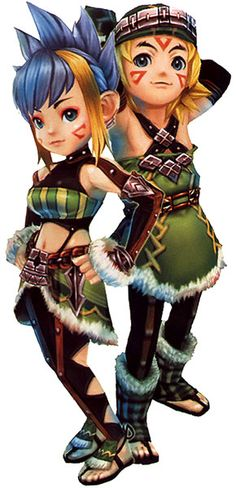 Selkies Dah Vis & Mana Kohl - Pictures & Characters Art - Final Fantasy Crystal Chronicles