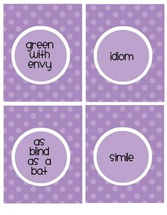 idiom, simile cards