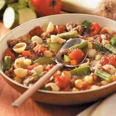 Minestrone with Italian Sausage Recipe