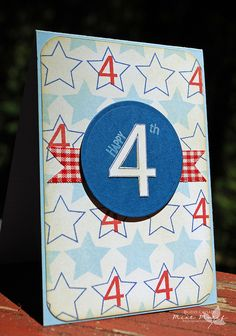 .birthday card with number 4