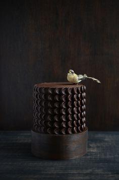 chocolate cake with bird | Flickr - Photo Sharing!