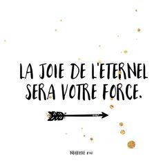 Bonne semaine à toi! Que la #joie de l'Eternel t'accompagne! #ilestnotreforce #versetdujour #bonnesemaine #labible