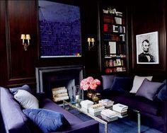eclectic room in Purple!...Victoria Hagan