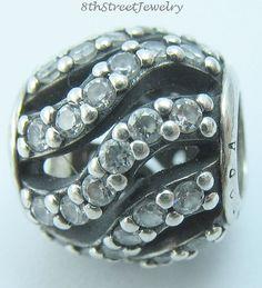 Pandora Sterling Silver 925 European Bead Charm Winter wisp, clear cz 791197CZ #Pandora #European