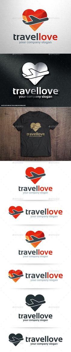 Travel Love Logo Template - Objects Logo Templates