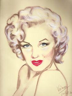 Marilyn+Monroe+by+Fataleval   / This image first pinned to Marilyn Monroe art board here: https://www.pinterest.com/fairbanksgrafix/marilyn-monroe-art/ #Art #MarilynMonroe