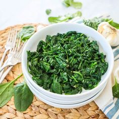 The BEST Sautéed Spinach - 5 Minute Side Dish - Easy Family Recipes