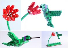 Lego birds: Hummingbird