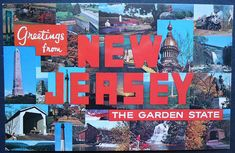 New Jersey State Postcard The Garden State 1970 Kitschy
