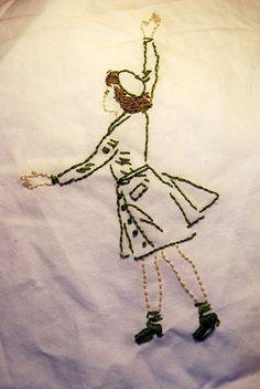 Vintage Girl Scout embroidery. Too cute!
