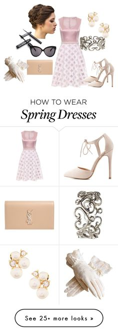"""Dress Up for a Day"" by faeryrain on Polyvore featuring Linda Farrow, Yves Saint Laurent, Charlotte Russe, Anne Klein, smileyface and bellastreasure"