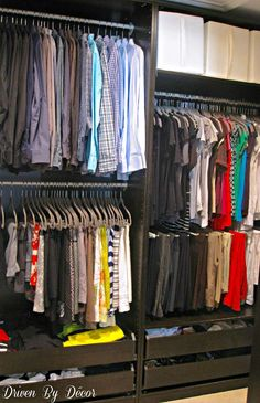 Our closet with PAX wardrobes