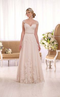 Nice colour A-line Essense Of Australia Wedding Dress