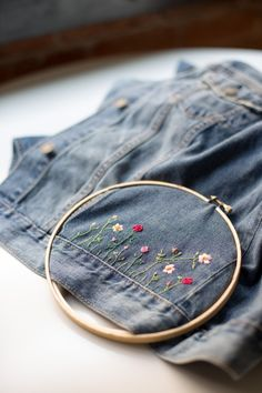 Jean embroidery diy