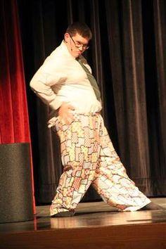 Mark modeling defective pajama pants