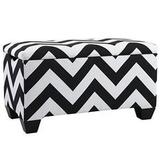 As You Wish Storage Bench with Feet - storage bench blends the line between fashion and function.