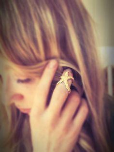 Seestern knuckle Ring verstellbarer Ring Boho von NomadGlitter